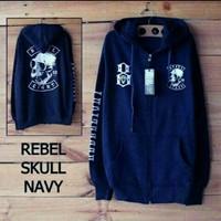 30792 Jaket Rebel Skull,jaket hoodie pria rebel eight 8 fit xl