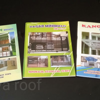 Buku Album pagar, teralis, pintu, canopy, balkon, railling tangga.