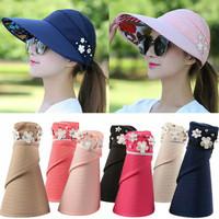 topi lipat pantai fashion korea import