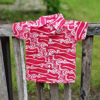MAGENTA03 Baju Batik Bayi 3 Bulan Kemeja Batik Anak