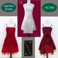 Gaun pesta Baju mini Dress Putih merah bridesmaid bridal Korea Import