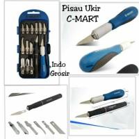 Pisau Ukir C-Mart Pahat Hobby Knife Set 14 Pcs Good Quality