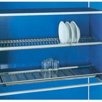(80cm) Rak Piring & Gelas Stainless Steel Kitchen Kabinet Dish Rack