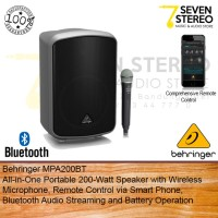 Behringer MPA200BT Portable 200 Watt Speaker With Wireless Mic