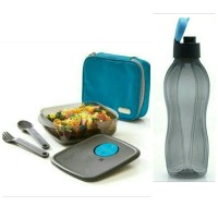 Tupperware X-treme Meal Box + Eco Men Black/ Lunch Set