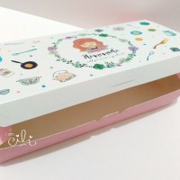 kotak / box / dus / kotak cake kue CUTE GIRL 24 x 11.5 x 5 per 10 pcs