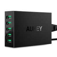 Aukey USB Charging Station 5 Port 50W 5V/10A with AIPower Tech PA-U33
