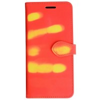 Sensitive Thermal Flip Cover for Samsung Galaxy S8 - Red