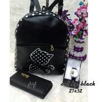 Harga jnjc tas lokal murah tas paket murah tas ransel cat black   Pembandingharga.com