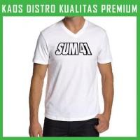Kaos Sum 41 Logo 2 V-neck VNK-SUM02