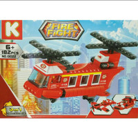 Brick Lego K Fire Fight Lego Helicopter 13022