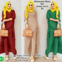 7244 maharani maxi set/stelan muslim/stelan wanita grosir/baju muslim