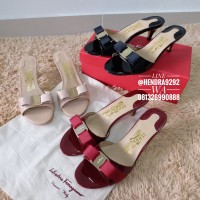 salvatore ferragamo glory sandals pink maroon black