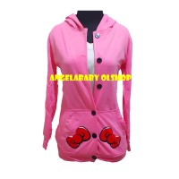 Korean hoodie jacket Hello Kitty in Pink JT385A