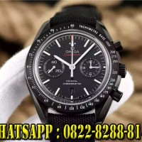 jam tangan pria Omega Speedmaster hitam swiss clone 1:1