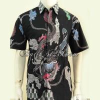 Kemeja Batik TUlis Pria Hem Batik Motif Naga LD9600