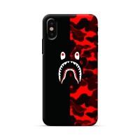 bape shark case iphone x 5 6 7 8 samsung s7 s8 j2 j3 j5 j7 note 8 a7