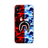 bape shark case iphone x 8 7 6 5 samsung s7 s8 note 8 a5 a7 a8 j5 j7