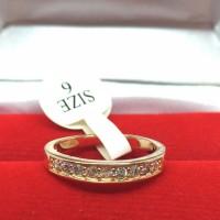 Cincin Lapis Emas Rose Gold Pria Wanita Batu Kecil Simpel - BR197R