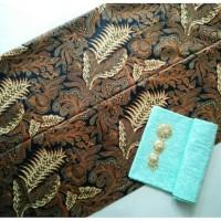 kain batik sogan solo bunga keris besar tanpa embos dan bros