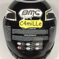 (Sale) Helm Full Face BMC Jazz #14 black Gold White