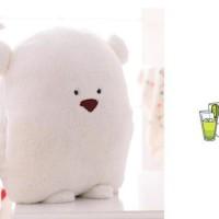 (Murah) 06 - Boneka Beruang   Selimut  45cm Boneka Impor