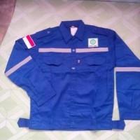 Baju Atasan Bahan Drill Size M warna Biru BCA berkualitas