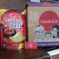 Rasa Lokal Kripik Singkong paket murah Sambal Matah Gila