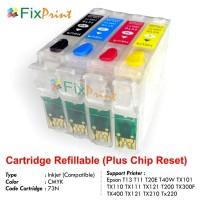 Refillable Cartridge Epson T13 T11 T20E T40W TX101 TX110 TX111 TX121 T200 TX300F TX400 TX121 TX210 TX220 73N