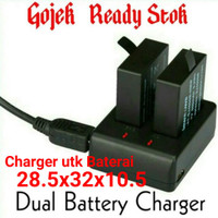 Dual Battery Charger for Eken, Kogan,Onix,SJ Cam,SJ,4000,5000,6000 M10