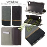 Leather Case Canvas Two Tone Gold Lining Lenovo ZUK Z2 Murah