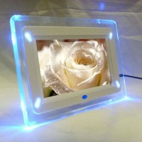 Digital Photo Frame 7 inch with LED Lights / digital foto frame