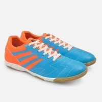 Sepatu Futsal BlueOrange Ori Jv - Kulit Sudah Di SOL Bola Futsal Sport