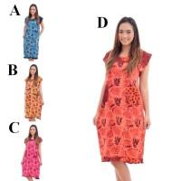 DPS302 Daster Santung Motif Cantik Murah Pakaian Baju Tidur Wanita