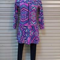 Baju Renang Muslim Muslimah Wanita ukuran besar  XXL / 3L motif ul007