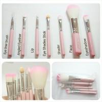 Kuas Make Up Mac 1 Set isi 7 pc Salon Brush Cosmetic Liner Travel Bag