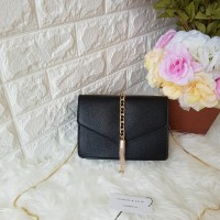 CHARLES AND KEITH TASSEL CLUTCH ORIGINAL / SLING BAG / TAS WANITA