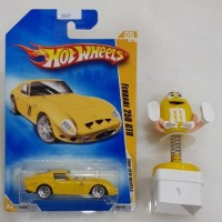 Hot Wheels Ferrari 250 GTO (Yellow) 2009 New Models