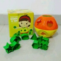 DISKON HEBOH Mainan edukasi anak Tupperware Shape-O toy shape O