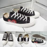 Sepatu Converse All Star Chuck Taylor CDG Play Love Low Canvas Black