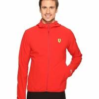ORIGINAL PUMA SF Lightweight Jacket Jaket Ferrari Pria warna Merah