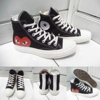Sepatu Converse All Star Chuck Taylor CDG Play Love High Canvas Black