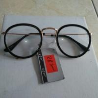 kacamata korea kacamata fashion bulat oval hitam gagang besi trendy 4d6186368a