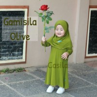 Gamis Anak Gamisila Polos by Casila Baby size 2-3th
