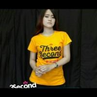 t-shirt/baju kaos wanita lengan pendek/three second