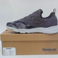 Sepatu Running Reebok Furylite Slip On Arch Grey Original Asli Murah