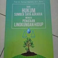 original buku dari hukum Sumber Daya Agraria
