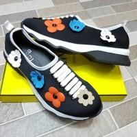 Sepatu FENDI (Syahrini) Floral Embellished Neoprene Sneaker YC801-2