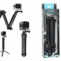 Tongsis Monopod Gopro 3 Way untuk HP, Kamera, Xiaomi Yi Gopro