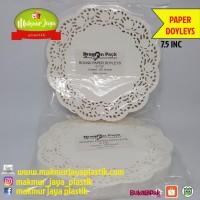 ROUND PAPER DOYLEYS KERTAS RENDA TATAKAN KUE SOUVENIR 7.5 INC